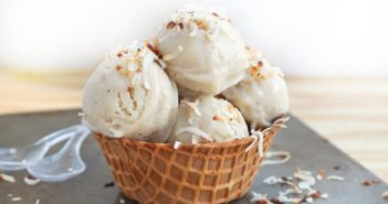 طريقة عمل آيس كريم بالموز و جوز الهند بدون حليب ice cream