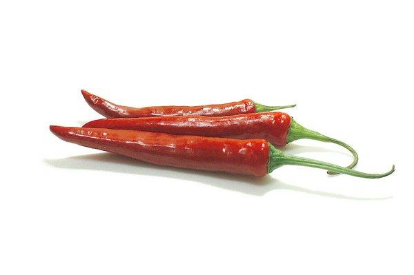 الفلفل الحار الأحمر يحرق السعرات الحرارية